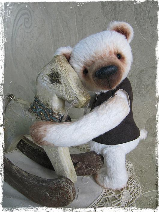 """Мишки Тедди ручной работы. Ярмарка Мастеров - ручная работа. Купить Сенечка  - коллекционный медведь из серии """"Mon petit ami """". Handmade."""