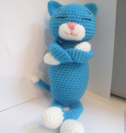 Игрушки животные, ручной работы. Ярмарка Мастеров - ручная работа. Купить Вязаный котик Аминеко. Handmade. Вязаная игрушка