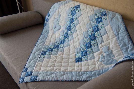 """Пледы и одеяла ручной работы. Ярмарка Мастеров - ручная работа. Купить Лоскутное одеяло """"С днем ангела"""". Handmade. Разноцветный"""