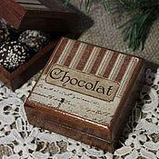 """Для дома и интерьера ручной работы. Ярмарка Мастеров - ручная работа шкатулки """"Шоколад"""". Handmade."""