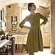 Платья ручной работы. Платье цвета шафрана. NikaPana. Ярмарка Мастеров. Желтый, шафран, итальянская шерсть