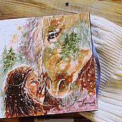 Картины и панно handmade. Livemaster - original item Unity - painting on paper. Handmade.