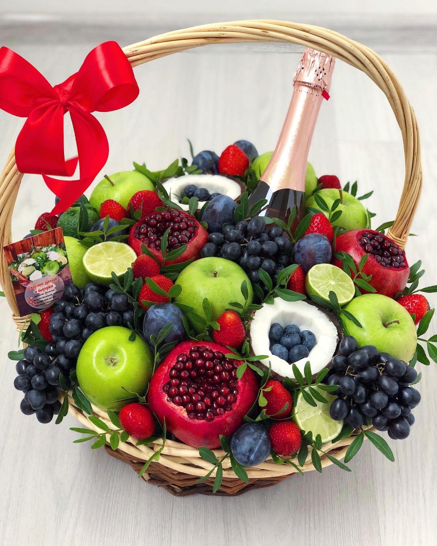 корзина с фруктами и вином в подарок своими руками фото ухаживания игры