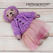 Куклы и игрушки handmade. Livemaster - original item Lilac Teddy bear Amethyst from the collection of the Natural stones. Handmade.