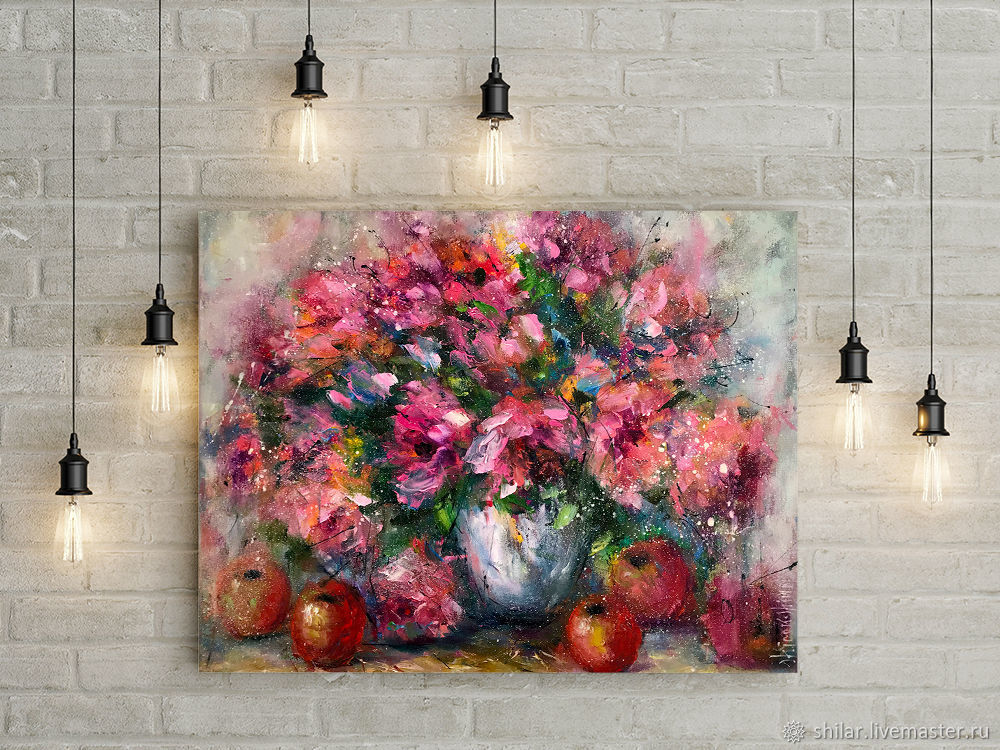 Still life with flowers, oil still life, beautiful still life,, Pictures, Asha,  Фото №1