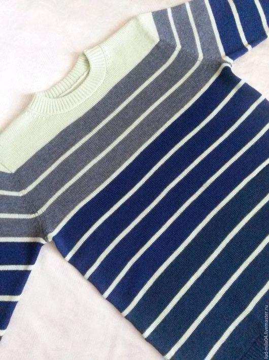 Для мужчин, ручной работы. Ярмарка Мастеров - ручная работа. Купить Пуловер мужской в полоску. Handmade. В полоску