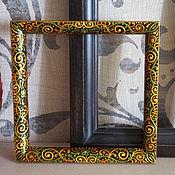 Сувениры и подарки ручной работы. Ярмарка Мастеров - ручная работа Фоторамка квадратная расписная. Handmade.
