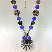 Украшения handmade. Livemaster - original item Necklace beads made of natural stones that glam eclectic Galaxy. Handmade.