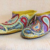 Обувь ручной работы. Ярмарка Мастеров - ручная работа тапочки валяные Половичок. Handmade.