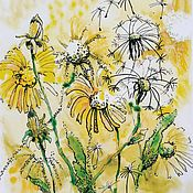 Открытки handmade. Livemaster - original item Watercolor. Author cards. Dandelions.. Handmade.