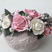 Свадебный салон ручной работы. Ярмарка Мастеров - ручная работа Ободок или гребень для волос с розами из фоамирана. Гребень или ободок. Handmade.