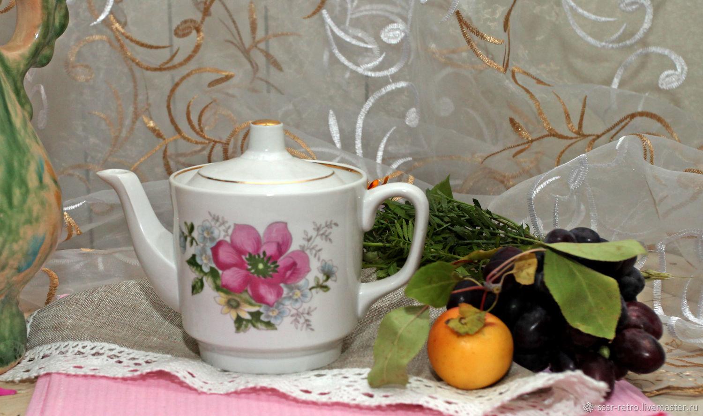 Винтаж: Чайник фарфоровый советский, Чайники винтажные, Омск,  Фото №1