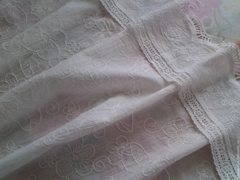 Купить батист белый с вышивкой