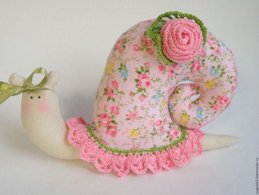 Куклы Тильды ручной работы. Ярмарка Мастеров - ручная работа. Купить Тильда улитка розовая. Handmade. Розовый, улитка текстильная