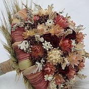 """Цветы и флористика ручной работы. Ярмарка Мастеров - ручная работа """"Зимняя сказка"""" букет из сухоцветов. Handmade."""