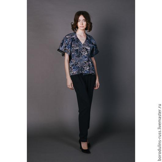 Блузки ручной работы. Ярмарка Мастеров - ручная работа. Купить Блуза - кардиган К 16-07. Handmade. Красивая блуза