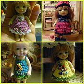 Куклы и игрушки ручной работы. Ярмарка Мастеров - ручная работа Платья для кукол 8 и 7 см.. Handmade.