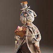 Куклы и игрушки ручной работы. Ярмарка Мастеров - ручная работа Мопс. Handmade.