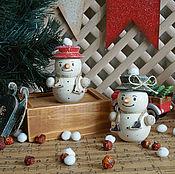 Подарки к праздникам ручной работы. Ярмарка Мастеров - ручная работа Снеговички - фигуристы, парочка... Handmade.