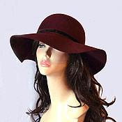 Аксессуары handmade. Livemaster - original item Hat Her dark Bardot. Handmade.