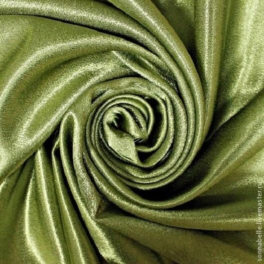Шитье ручной работы. Ярмарка Мастеров - ручная работа. Купить Ткань Атлас Креп-сатен Зеленый. Handmade. Шторы