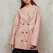 Одежда handmade. Livemaster - original item Women`s jacket made of artificial leather. Handmade.