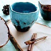 Wine Glasses handmade. Livemaster - original item Glasses: Pottery. Ceramic glass handmade. Handmade.
