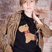Одежда handmade. Livemaster - original item T-shirt with the author`s application Dreamers. Handmade.