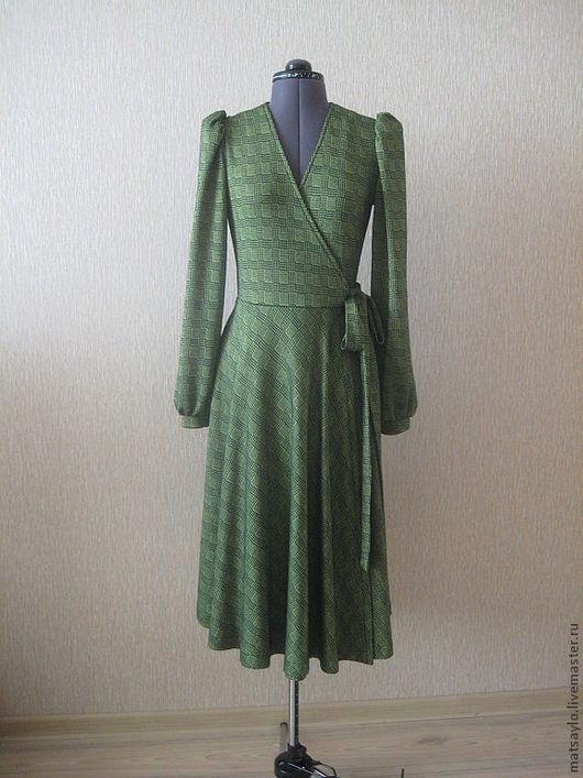Платья ручной работы. Ярмарка Мастеров - ручная работа. Купить Платье на запахе.. Handmade. Платье, платье из шерсти, шерсть с эластаном