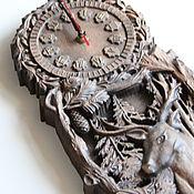 Часы ручной работы. Ярмарка Мастеров - ручная работа Часы резные. Handmade.