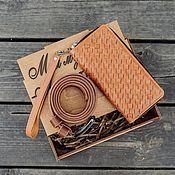 Кошельки ручной работы. Ярмарка Мастеров - ручная работа Набор из плетеной кожи ручной работы. Handmade.