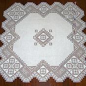 Для дома и интерьера handmade. Livemaster - original item Lace tablecloth - topper.. Handmade.