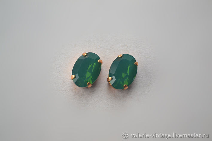 Swarovski crystals 14h10 mm color Palace Green Opal, Crystals, Moscow,  Фото №1