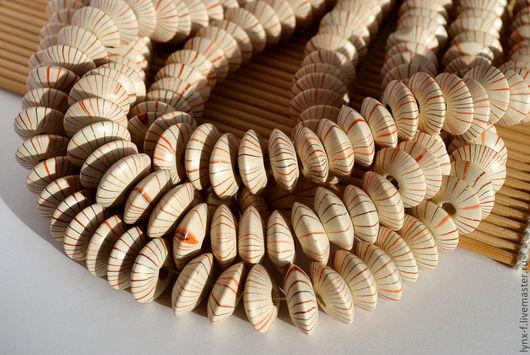 Для украшений ручной работы. Ярмарка Мастеров - ручная работа. Купить 10шт Бусины-диски деревянные 14х6мм. Handmade. бежевый