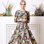 Одежда ручной работы. Ярмарка Мастеров - ручная работа Тёплое платье с невероятной расцветкой). Handmade.