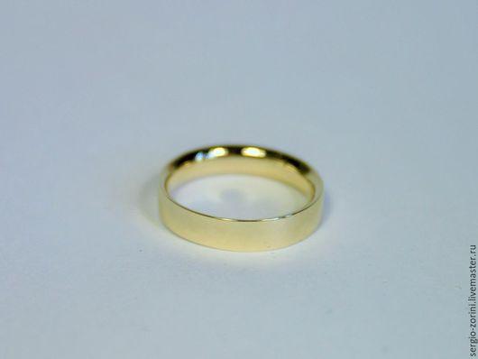 Кольца ручной работы. Ярмарка Мастеров - ручная работа. Купить Обручальное кольцо из золота 585 пробы. Handmade. Золотой