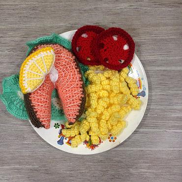 Куклы и игрушки ручной работы. Ярмарка Мастеров - ручная работа Вязаная еда - НАБОР ДЛЯ ОБЕДА. Handmade.