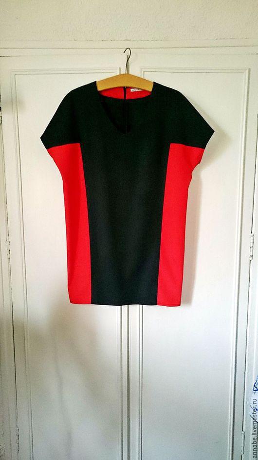 Платья ручной работы. Ярмарка Мастеров - ручная работа. Купить Платье-туника Orange. Handmade. Теплое платье, платье для офиса