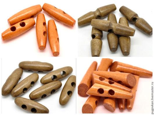 Шитье ручной работы. Ярмарка Мастеров - ручная работа. Купить Пуговицы деревянные. Handmade. Коричневый, треугольные пуговицы, дерево