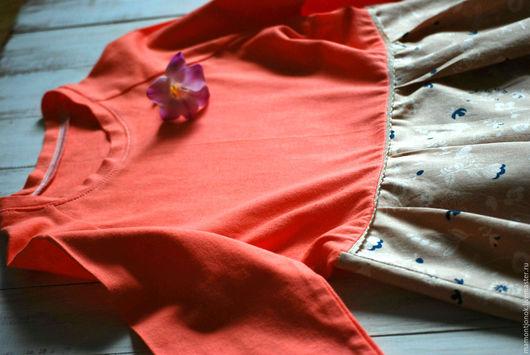 """Одежда для девочек, ручной работы. Ярмарка Мастеров - ручная работа. Купить Платье для девочки """"Sweet peach"""". Handmade. Цветочный"""