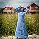 """Платья ручной работы. Заказать Платье """"Серо-голубое Озеро"""". Elven Forest. Ярмарка Мастеров. Эльфийское платье, теплое платье"""