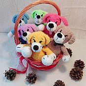 Куклы и игрушки ручной работы. Ярмарка Мастеров - ручная работа Собачки вязанные. Handmade.