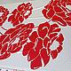 Шитье ручной работы. Шелковый атлас красно-белые цветы. Анна.               Роскошные ткани. Интернет-магазин Ярмарка Мастеров. Блузка