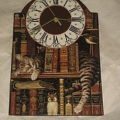 """Для дома и интерьера ручной работы. Ярмарка Мастеров - ручная работа Настенные часы """"Читатель"""". Handmade."""