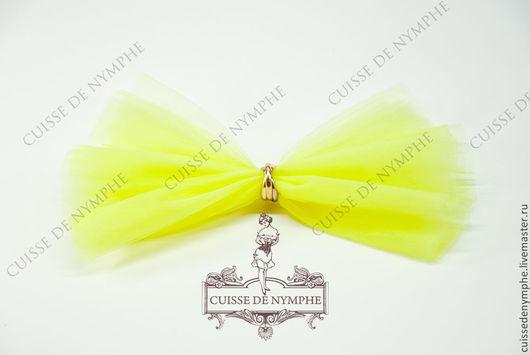 Шитье ручной работы. Ярмарка Мастеров - ручная работа. Купить Фатин мягкий (еврофатин), лимонно-желтый HYLT-7021. Handmade.