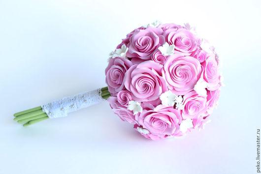 Свадебные цветы ручной работы. Ярмарка Мастеров - ручная работа. Купить Свадебный букет невесты с викторианскими розами Нежность. Handmade.