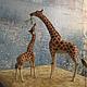 Игрушки животные, ручной работы. Ярмарка Мастеров - ручная работа. Купить Жирафы. Handmade. Рыжий, ручная работа handmade, сувенир