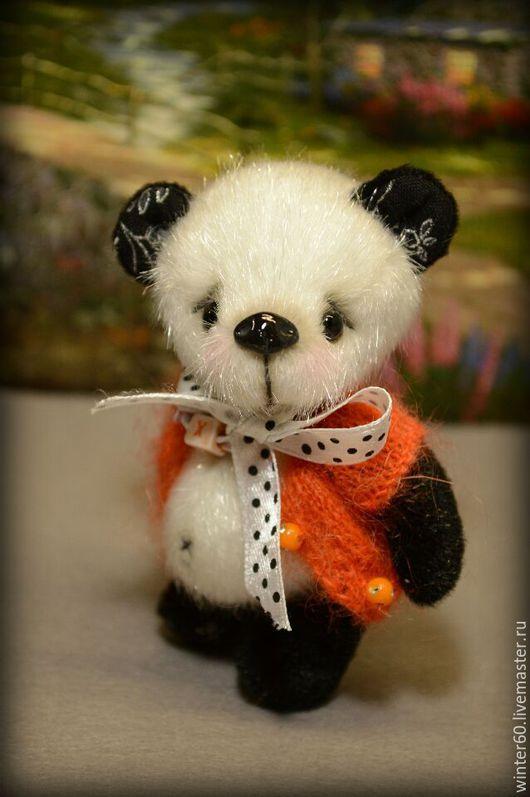 Мишки Тедди ручной работы. Ярмарка Мастеров - ручная работа. Купить Пандочка. Handmade. Чёрно-белый, вручную