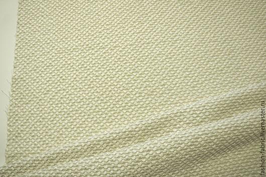 Шитье ручной работы. Ярмарка Мастеров - ручная работа. Купить Пальтовая шерсть фактурная жемчуг молочный 28101508 Цена за метр. Handmade.