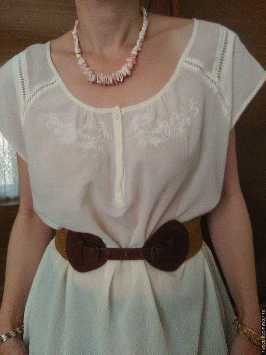 Блузки ручной работы. Ярмарка Мастеров - ручная работа. Купить блузка хлопковая. Handmade. Белый, блузка с вышивкой